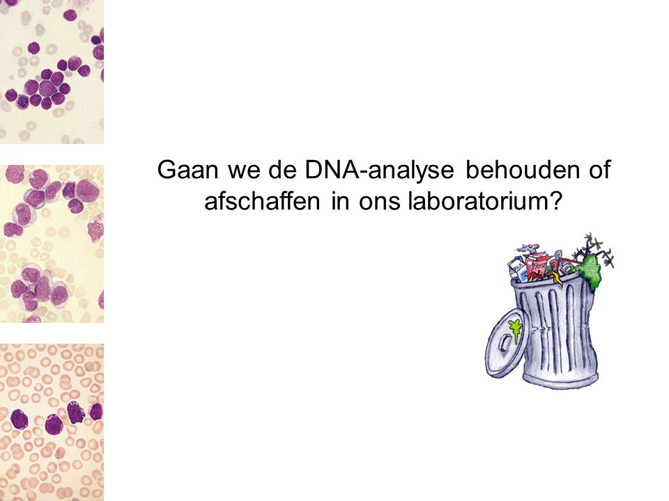 Gaan we de DNA-analyse behouden of afschaffen in ons laboratorium
