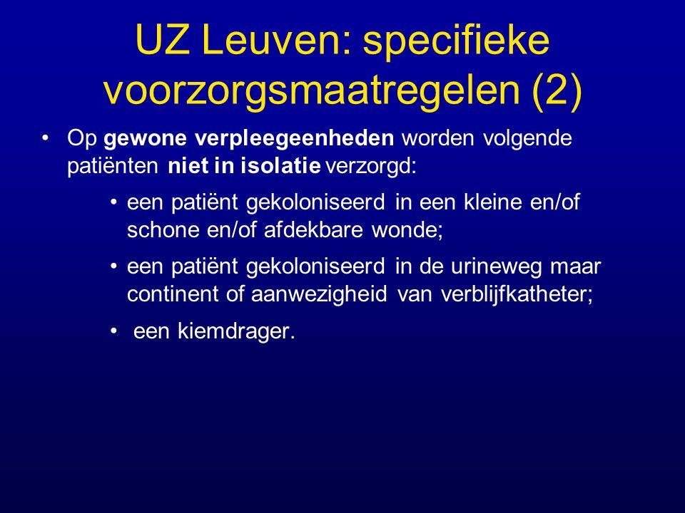 UZ Leuven: specifieke voorzorgsmaatregelen (2)