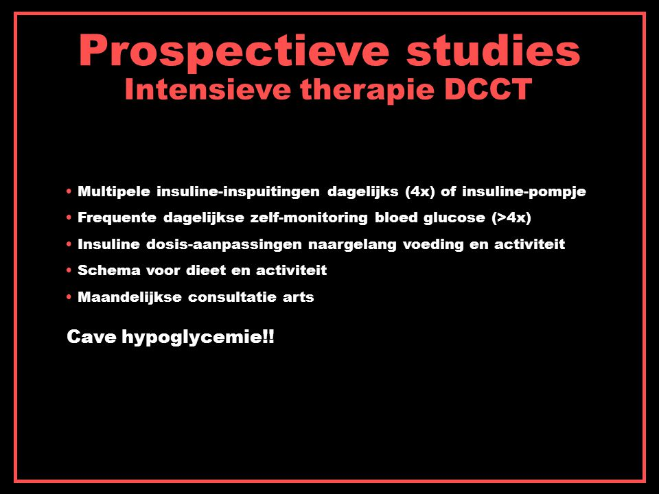 Intensieve therapie DCCT