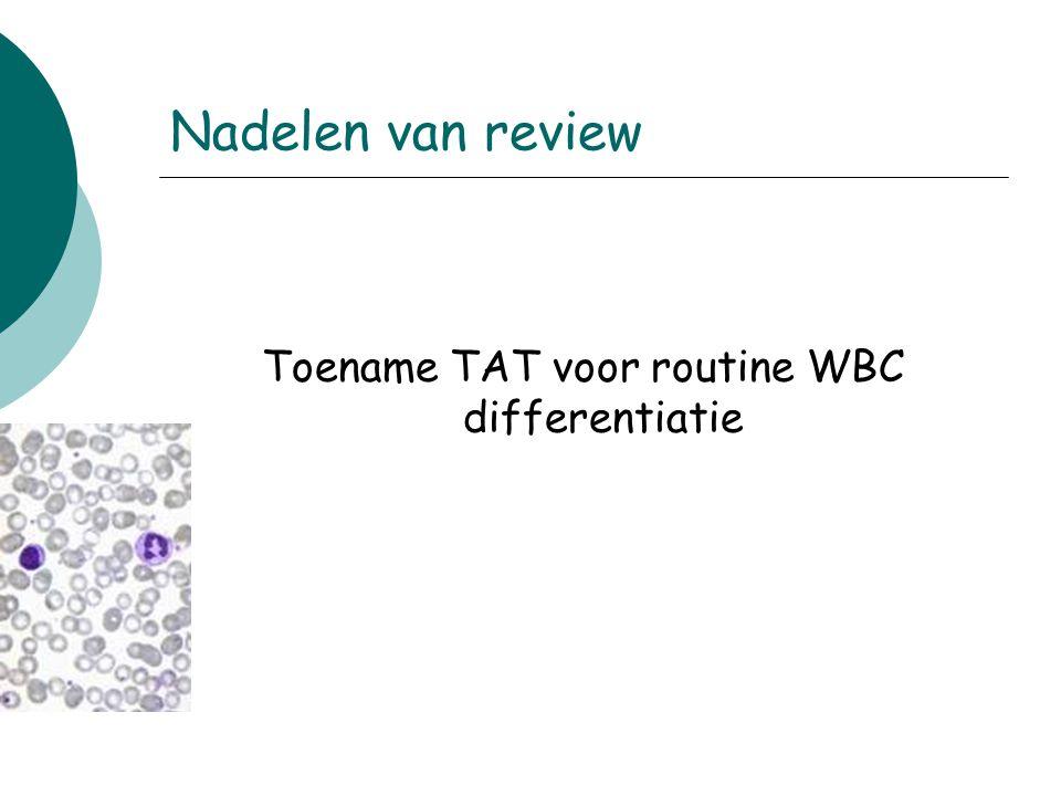 Toename TAT voor routine WBC differentiatie