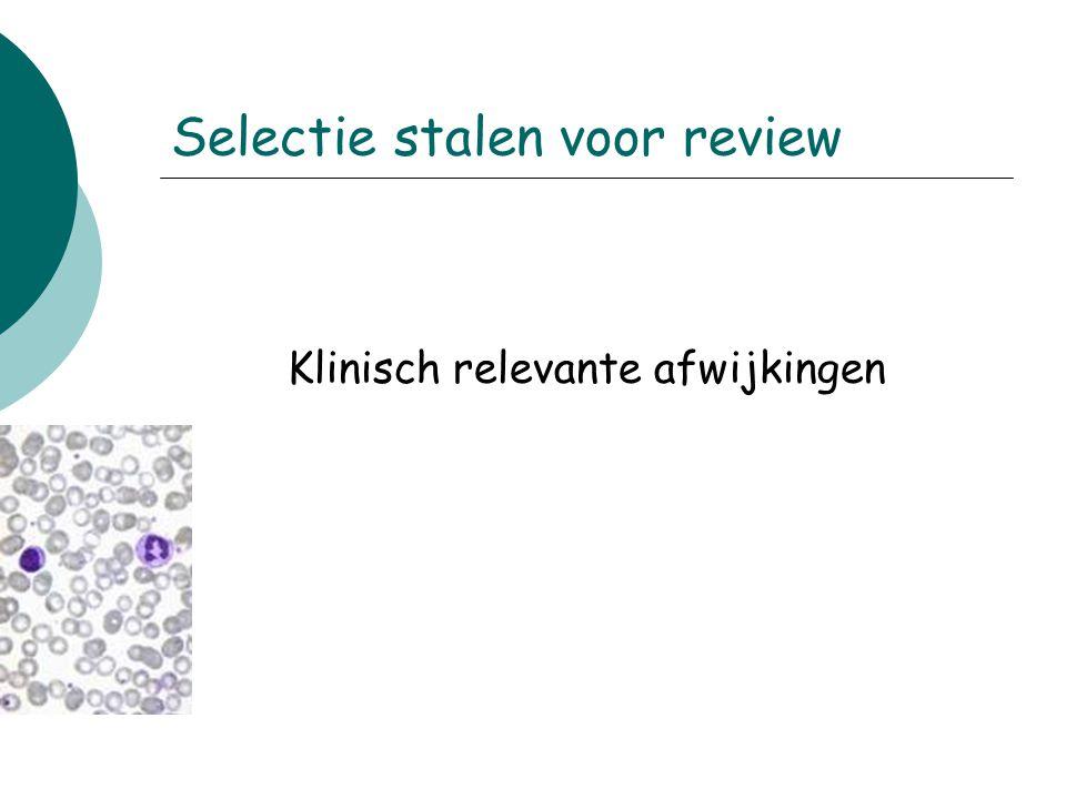 Selectie stalen voor review