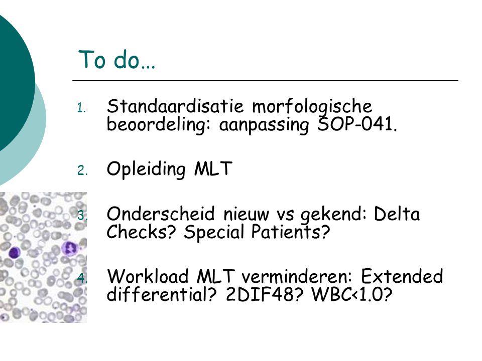 To do… Standaardisatie morfologische beoordeling: aanpassing SOP-041.