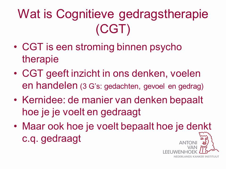 Wat is Cognitieve gedragstherapie (CGT)