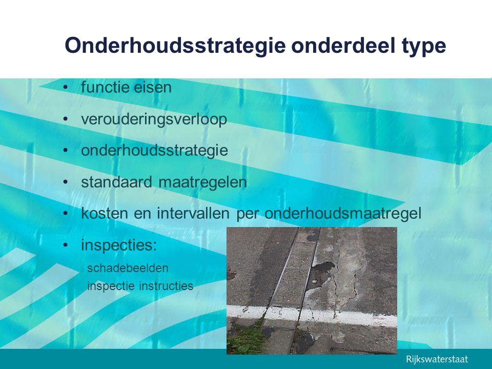 Onderhoudsstrategie onderdeel type