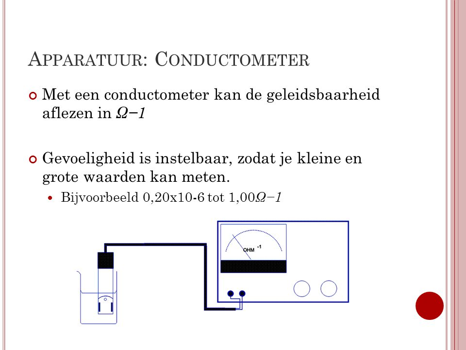 Apparatuur: Conductometer