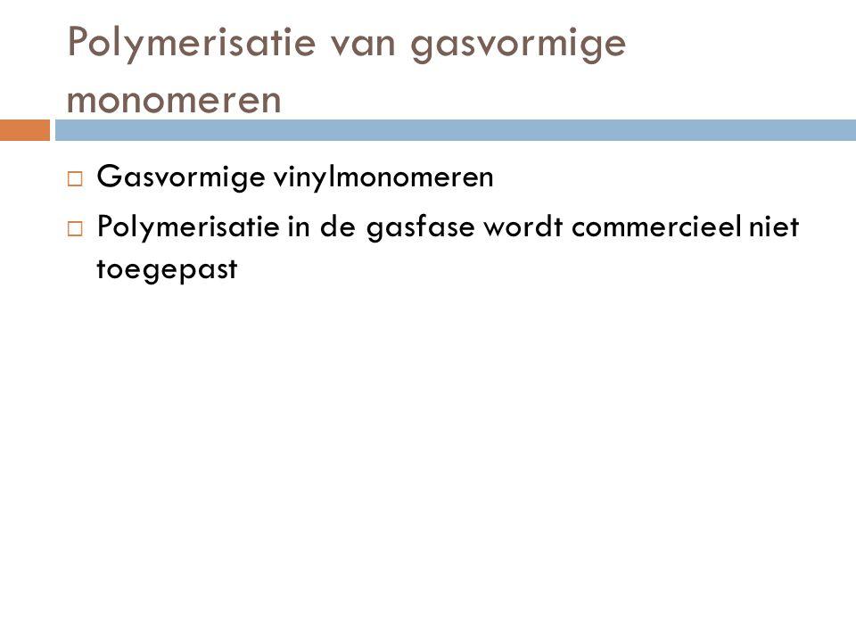 Polymerisatie van gasvormige monomeren