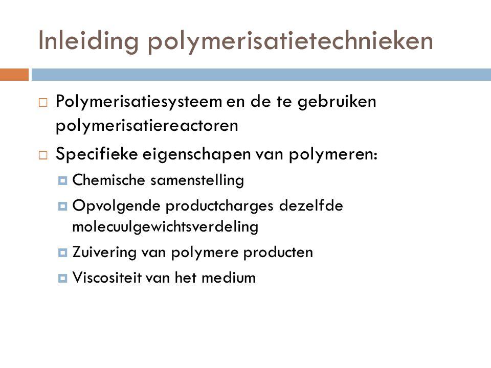 Inleiding polymerisatietechnieken