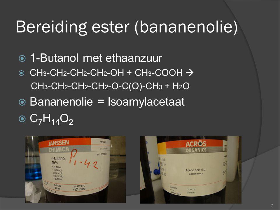 Bereiding ester (bananenolie)