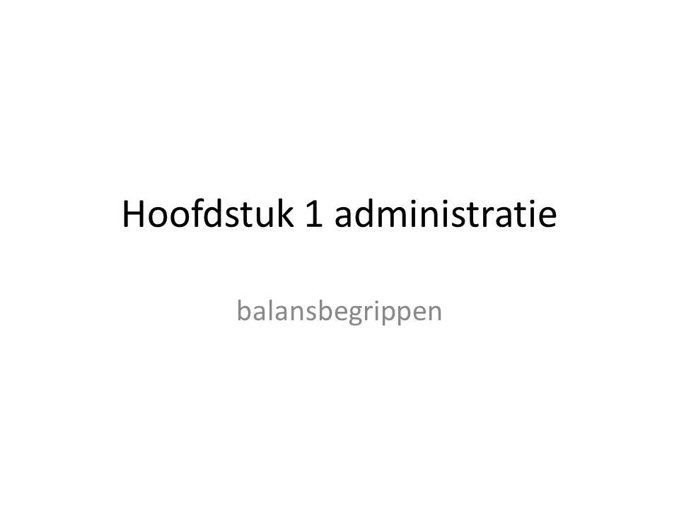 Hoofdstuk 1 administratie