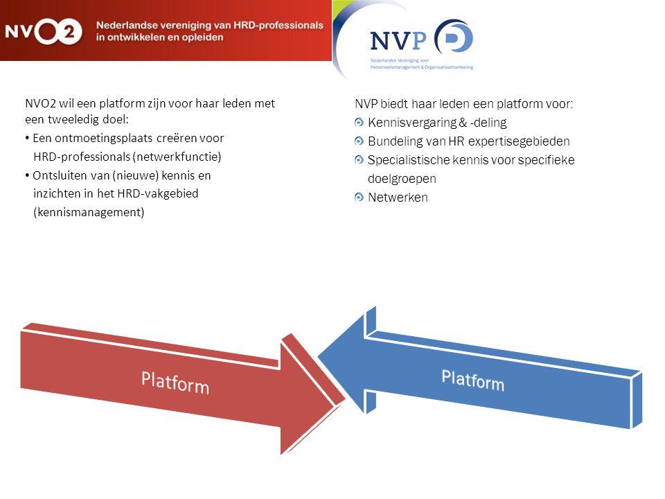 NVO2 wil een platform zijn voor haar leden met een tweeledig doel: