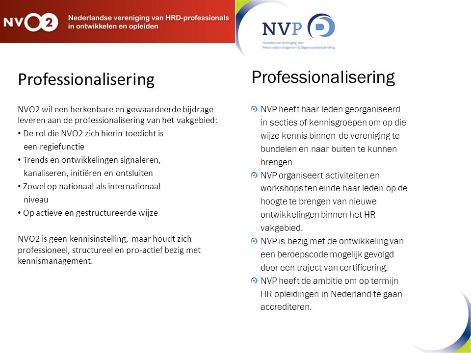 Professionalisering Professionalisering