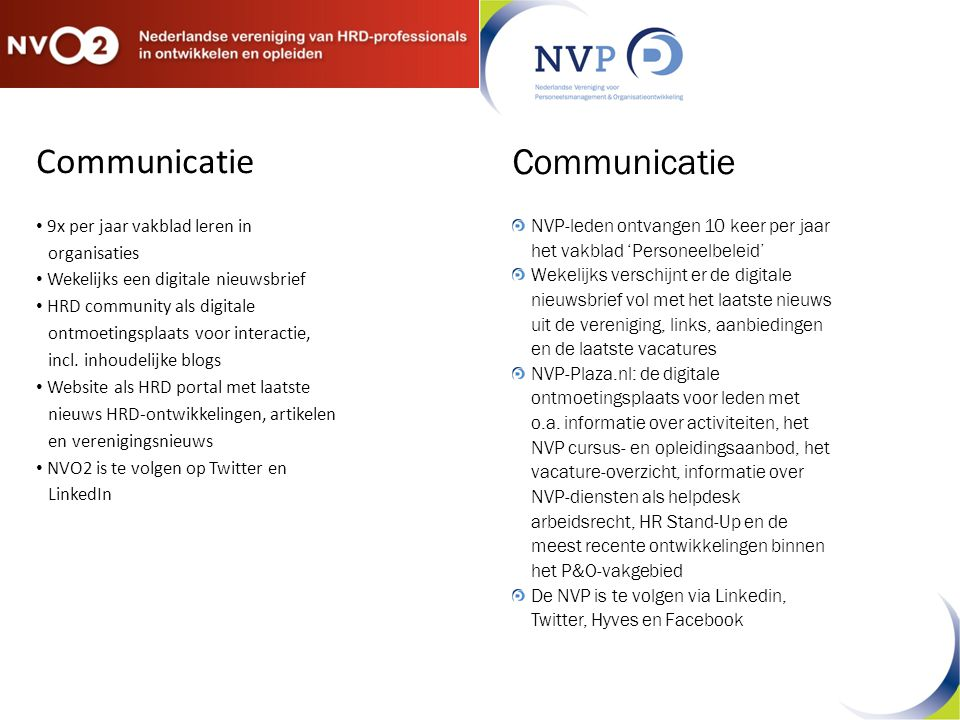 Communicatie Communicatie 9x per jaar vakblad leren in organisaties