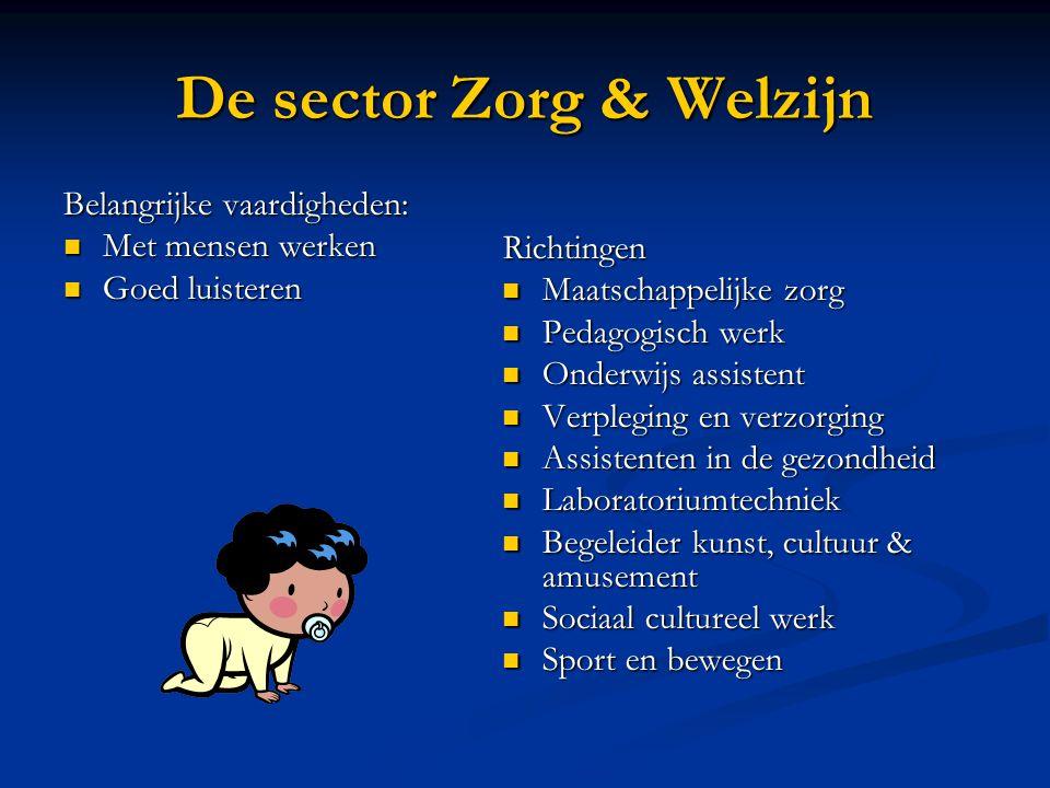 De sector Zorg & Welzijn