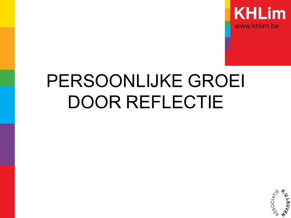 PERSOONLIJKE GROEI DOOR REFLECTIE