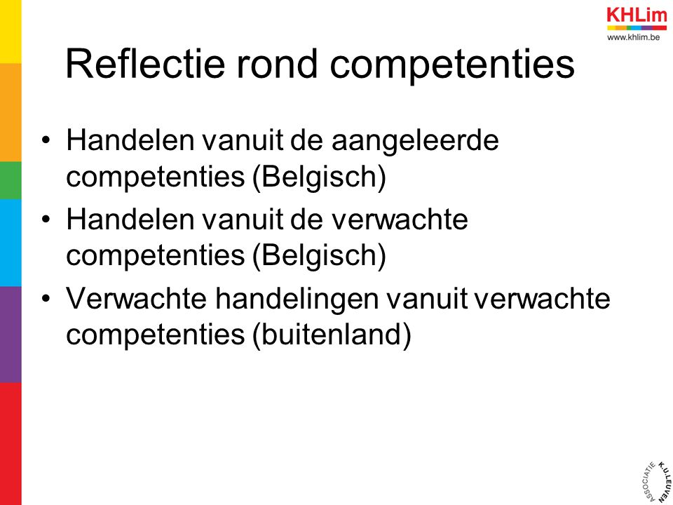 Reflectie rond competenties