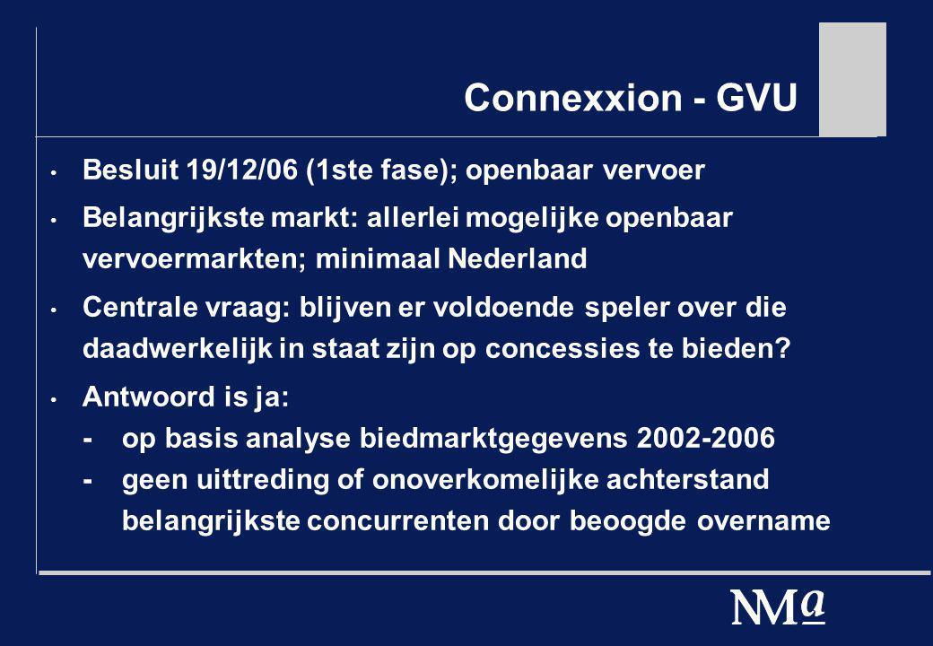 Connexxion - GVU Besluit 19/12/06 (1ste fase); openbaar vervoer