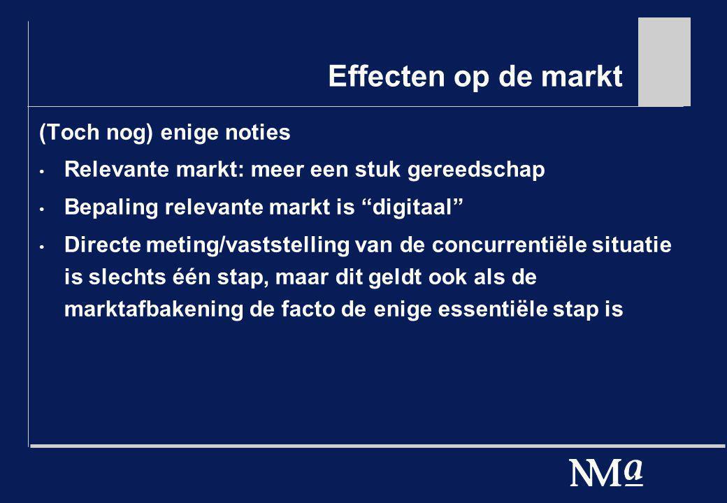 Effecten op de markt (Toch nog) enige noties