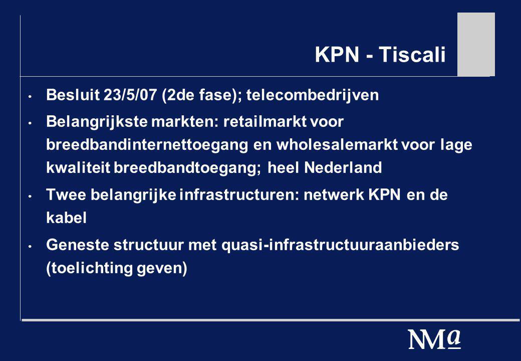 KPN - Tiscali Besluit 23/5/07 (2de fase); telecombedrijven