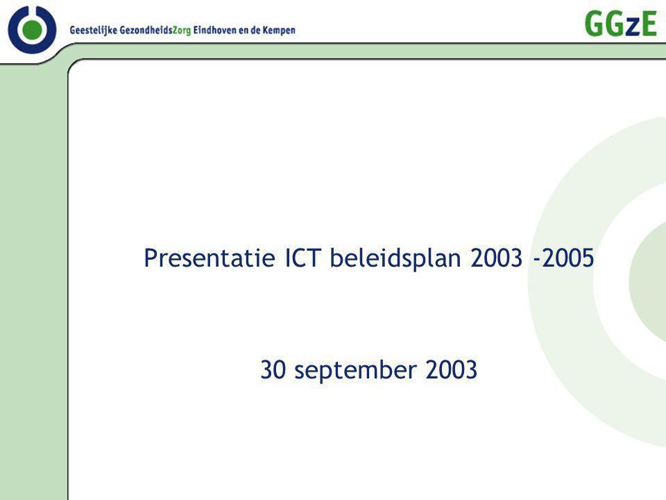 Presentatie ICT beleidsplan 2003 -2005