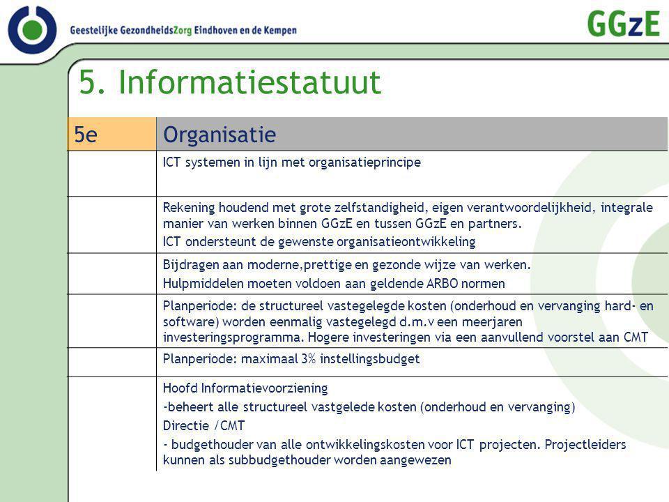 5. Informatiestatuut 5e Organisatie
