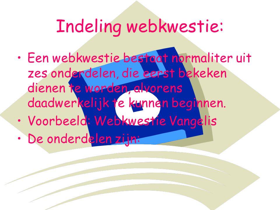 Indeling webkwestie: