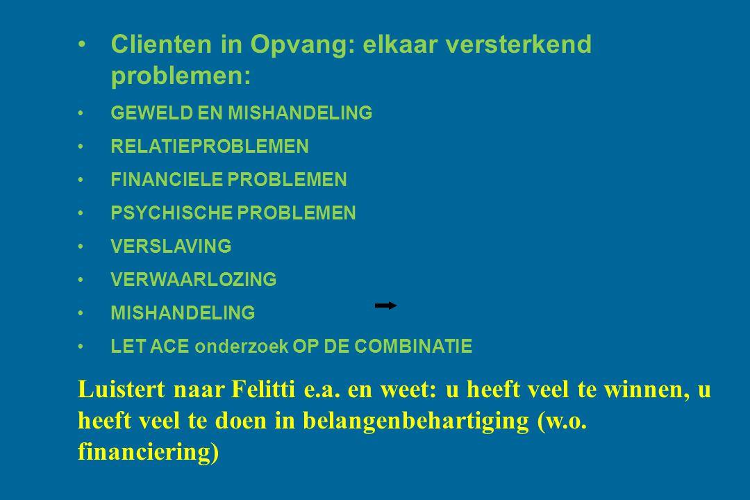 Clienten in Opvang: elkaar versterkend problemen: