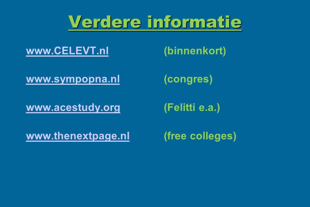 Verdere informatie www.CELEVT.nl (binnenkort)