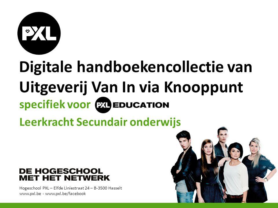 Digitale handboekencollectie van Uitgeverij Van In via Knooppunt