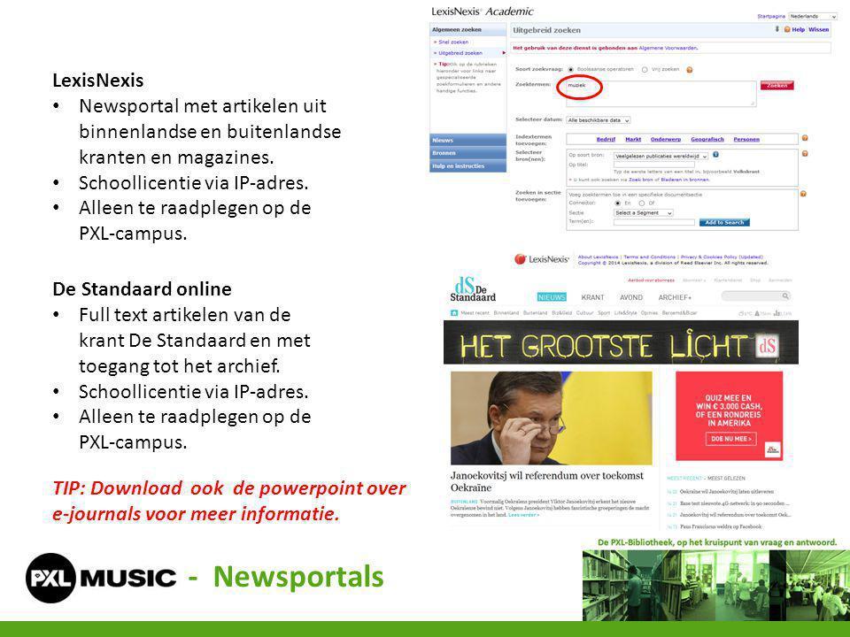 - Newsportals LexisNexis