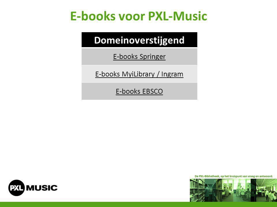 E-books voor PXL-Music