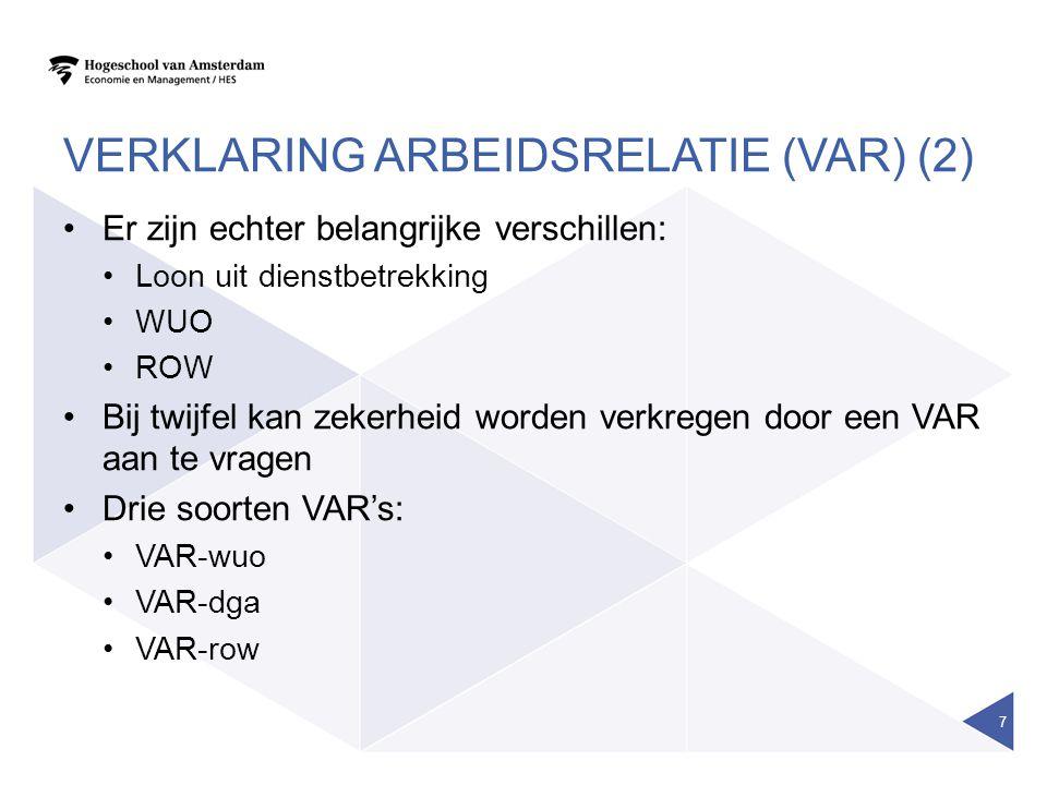 Verklaring arbeidsrelatie (VAR) (2)