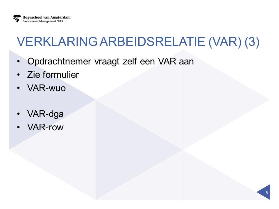 Verklaring arbeidsrelatie (VAR) (3)