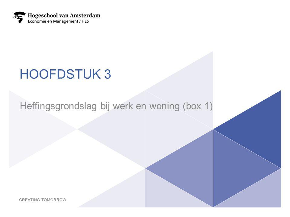 Heffingsgrondslag bij werk en woning (box 1)