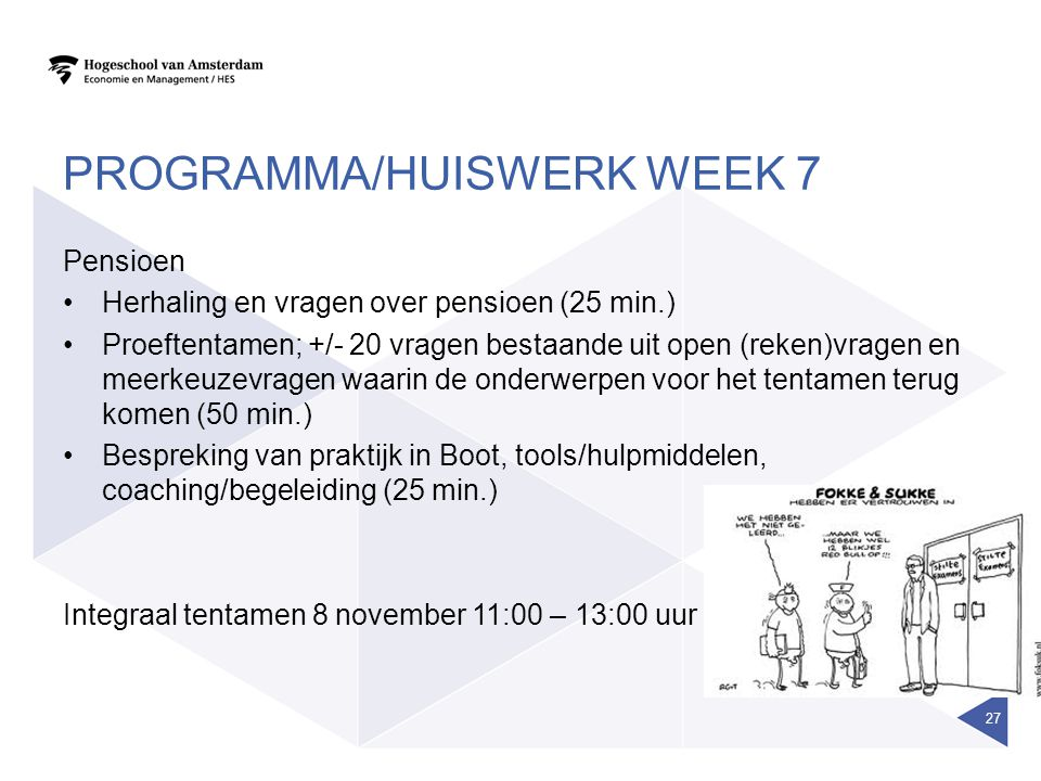 Programma/huiswerk week 7