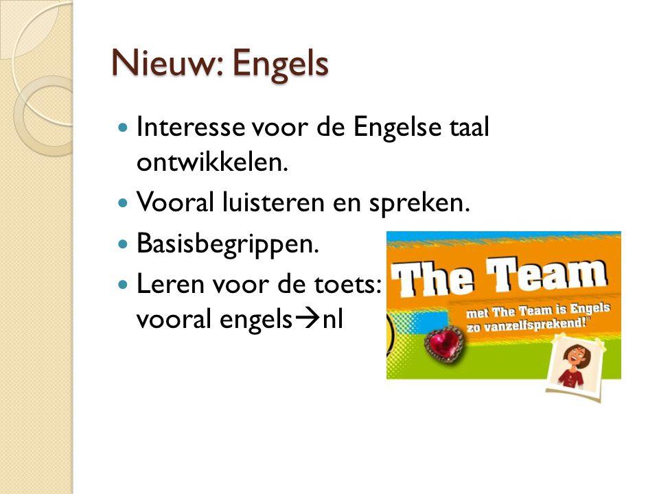 Nieuw: Engels Interesse voor de Engelse taal ontwikkelen.