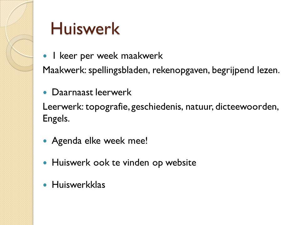 Huiswerk 1 keer per week maakwerk