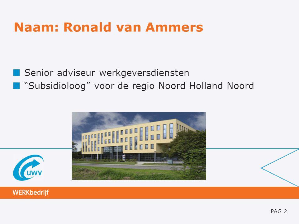 Naam: Ronald van Ammers