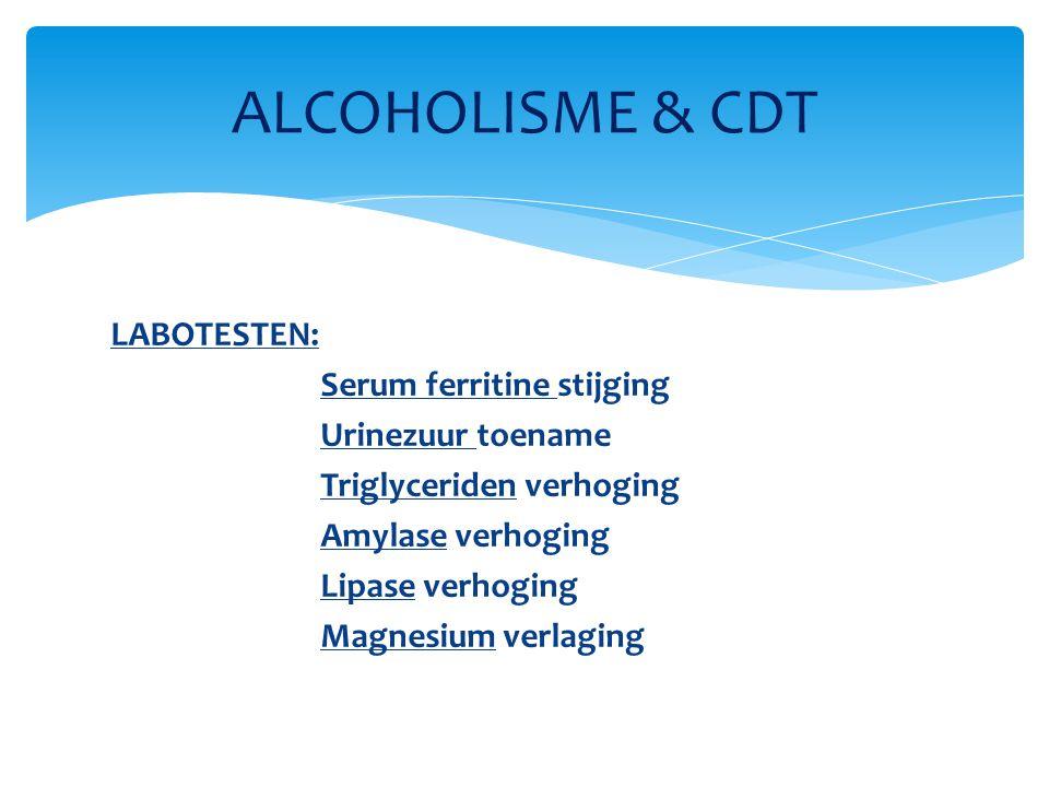 ALCOHOLISME & CDT LABOTESTEN: Serum ferritine stijging