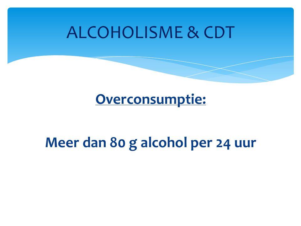 Overconsumptie: Meer dan 80 g alcohol per 24 uur