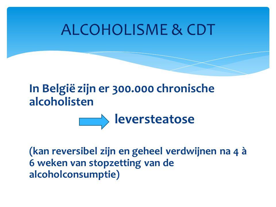 ALCOHOLISME & CDT In België zijn er 300.000 chronische alcoholisten