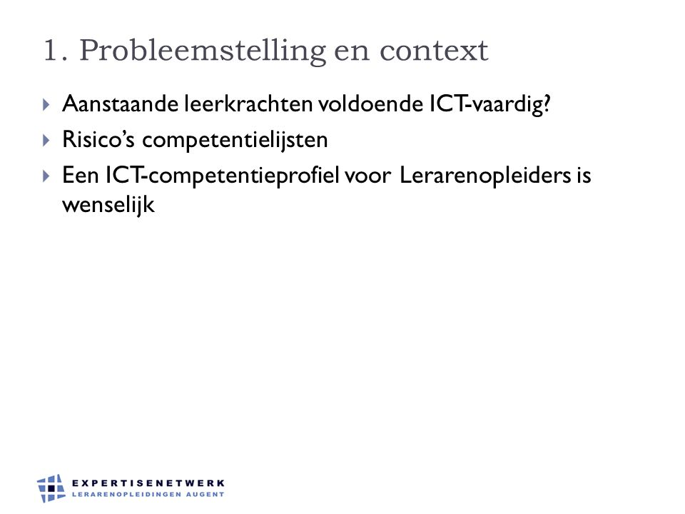 1. Probleemstelling en context