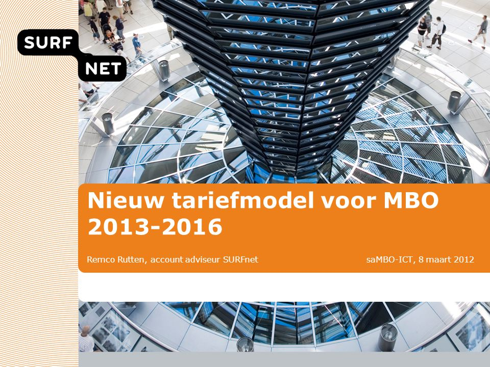 Nieuw tariefmodel voor MBO 2013-2016