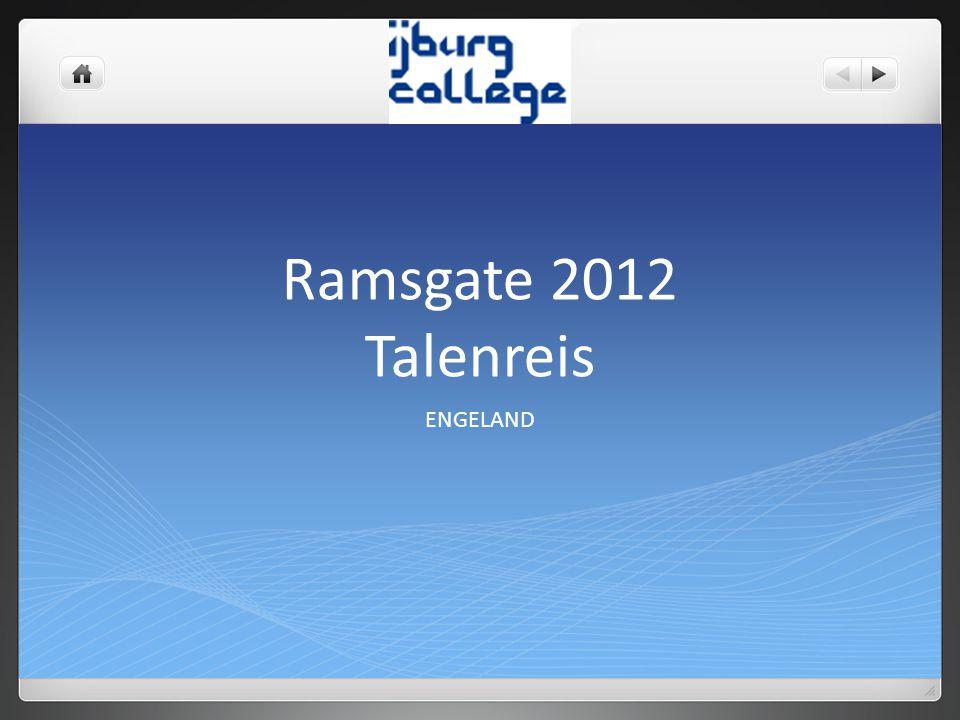 Ramsgate 2012 Talenreis ENGELAND
