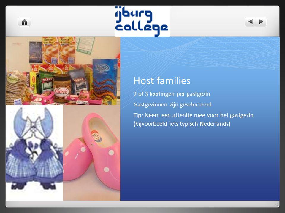 Host families 2 of 3 leerlingen per gastgezin