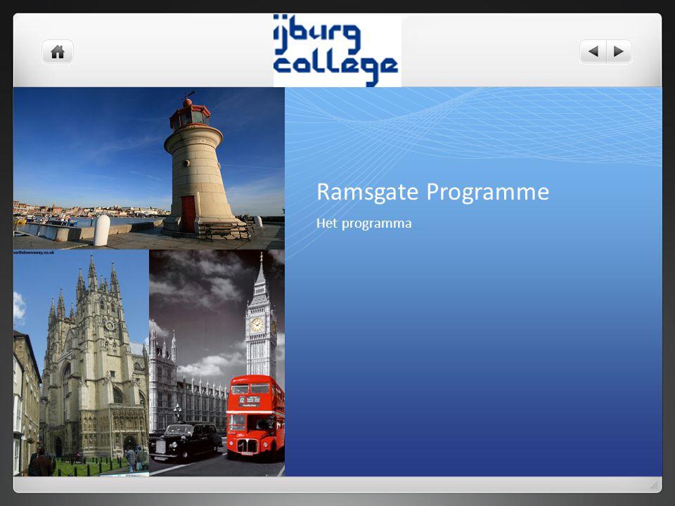 Ramsgate Programme Het programma