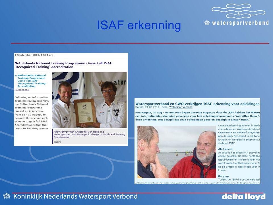 ISAF erkenning 2