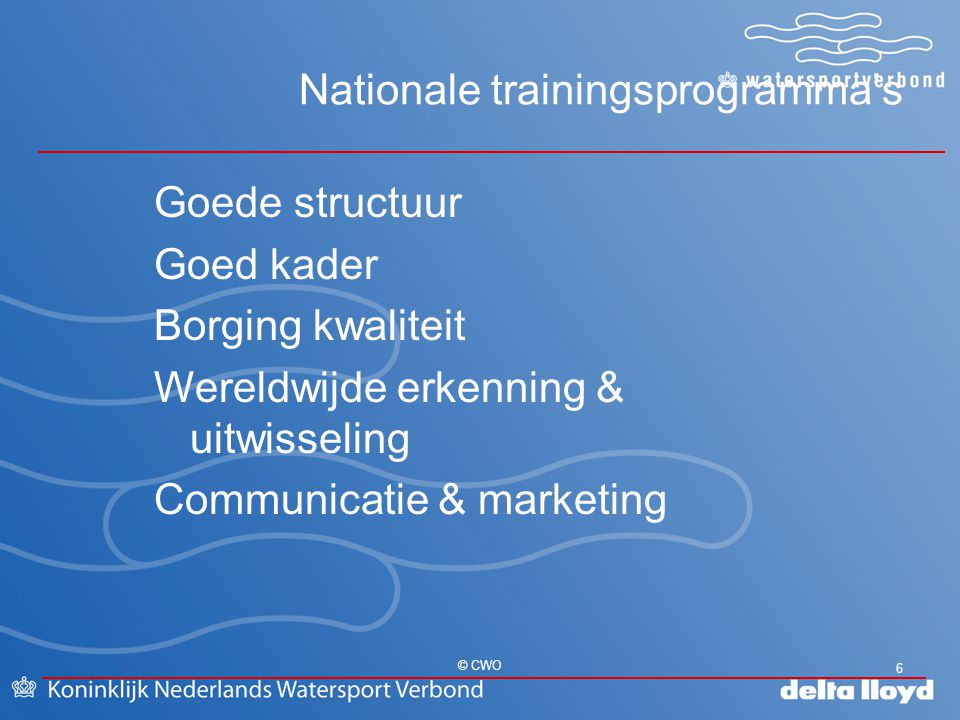 Nationale trainingsprogramma's