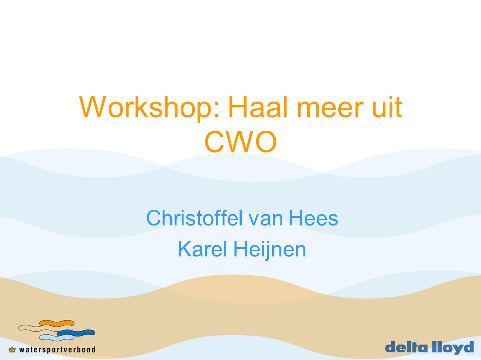 Workshop: Haal meer uit CWO