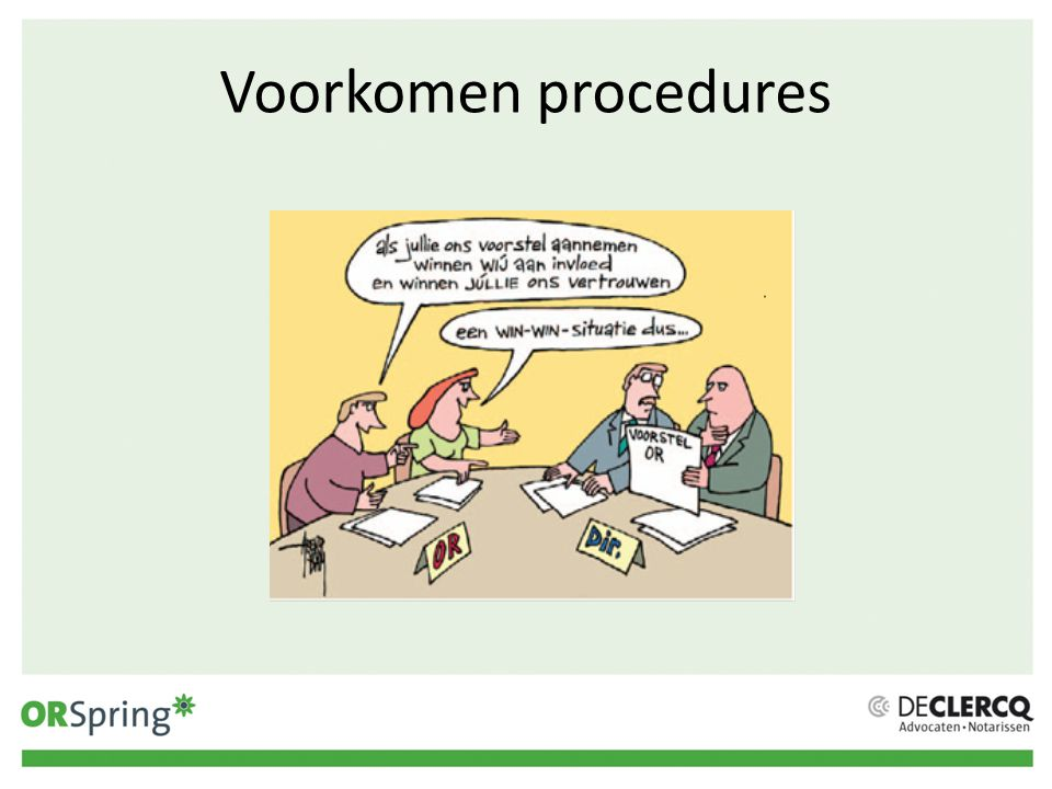 Voorkomen procedures