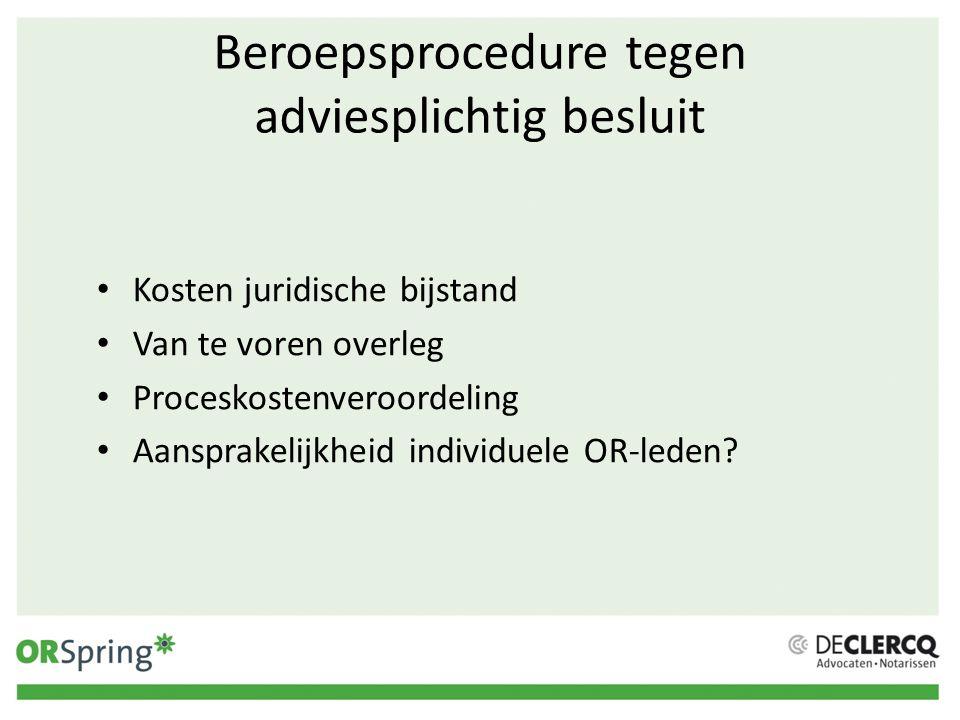 Beroepsprocedure tegen adviesplichtig besluit